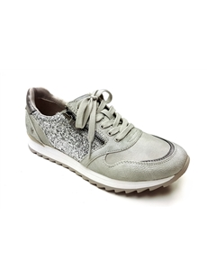 Mustang Silver Trainer with Zip Detail 1241-303