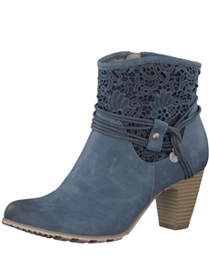 S.Oliver Blue Ankle Boot 25301-20-803