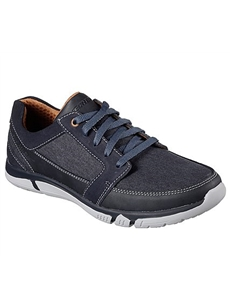 Skechers Mens Edmen - Ristone Navy Trainer 65511