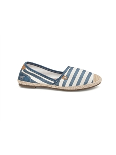 Ladies Mustang Espadrilles Navy 1266207