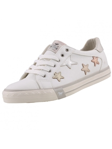 Ladies Mustang Cloud White Trainer 1146308