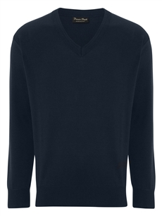 Franco Ponti Damson V Airforce Blue Sweater