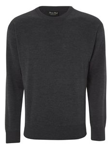 Franco Ponti  Round Neck Charcoal Sweater