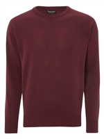 Franco Ponti  Round Neck Damson Sweater