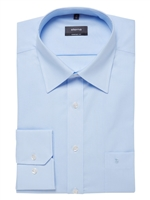 Eterna Plain Light Blue Business Shirt 1100-10
