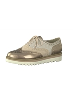 Marco Tozzi Rose Gold Mix Brogue