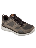 Skechers Mens Relaxed Fit: Quantum Flex Brown Trainer 52905