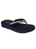 Skechers Ladies Cali Meditation - Daisy Delight Navy Sandal 31559