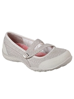 Skechers Ladies Relaxed Fit: Breathe Easy - Pretty Swagger Natural Trainer 23098