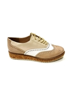 Marco Tozzi Nude Patent Mix Wedge Brogue 23726-28 265