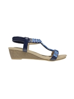 Lunar Reynolds Wedge Blue Sandal