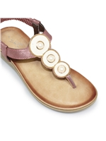Lunar JLH917 Clio Toe Post Purple Sandal