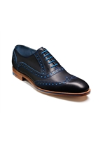 Barker Grant Blue Navy Brogue Shoe