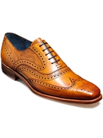 Barker McClean Wingtip Tan With Paisley Print Shoe